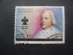 Ajman LOUIS XVIII Oblitéré - Familles Royales