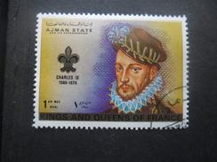 Ajman CHARLES IX Oblitéré - Königshäuser, Adel