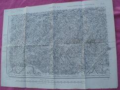 Carte Topographique D'Etat Major De CAHORS TYPE 1889 CARROYAGE KILOMETRIQUE - Topographical Maps
