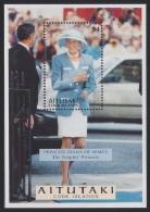 Aitutaki Diana Princess Of Wales Commemoration MS SG#MS700 SC#523