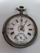 VINTAGE : MONTRE GOUSSET ARGENT( 0.800) CYLINDRE 10 RUBIS NR 99559 - Watches: Bracket