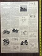 ENV 1900 AUTOMOBILE BICYCLETTE EN 1899 - Vieux Papiers