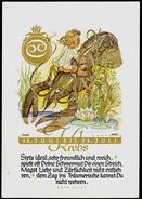 206-GERMANY-Deutschland Postcard STEINBOCK-Krebs Zeichen-Horoskop-zodiac-horoscope-Signe-horoscope 1946 - Astronomia