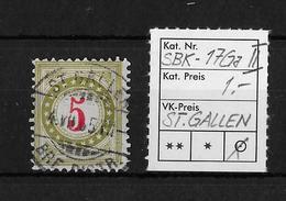 NACHPORTOMARKEN → SBK-17Ga Type2, ST.GALLEN 4.VII.05 - Portomarken