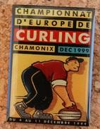 CHAMPIONNAT D'EUROPE DE CURLING CHAMONIX FRANCE DEC 1999 - DU 4 AU 11 DECEMBRE - CURLEUR  -        (16) - Pin's