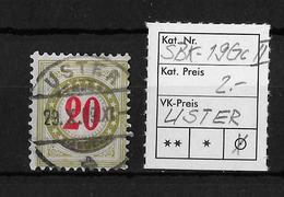NACHPORTOMARKEN → SBK-19Gc Type2, USTER 29.X.09 - Portomarken
