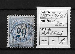 NACHPORTOMARKEN → SBK-6I Type1, AARAU 12.XI.79 - Portomarken