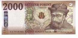 Hungary 2000 Forint (2016/17) Pnew UNC - Hungary