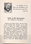 Santino Pieghevole Di 6 Facciate Con Padre Pio Da Pietrelcina (Benevento) - Santini