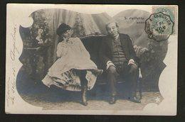 """""""Si Vieillesse Pouvait""""_Précurseur Convoyeur """"Amiens à Tergnier""""_1903 - Humour"""