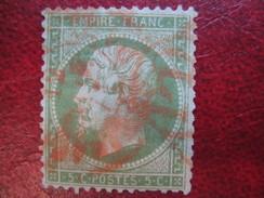 Napoleon N° 20 Cachet A Date Rouge Des Imprimés - 1862 Napoleone III