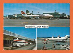 FLUGHAFEN ZÜRICH-KLOTEN  - AVION SWISSAIR - SUISSE - SCHWEIZ - ZH Zurich