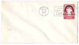 Philippines Postal History Last Day Japanese Occupation Postal Stationery Envelope NU2 - Philippines
