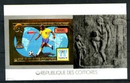 COMORES - BF 133 - 1000F Or  Coupe Du Monde De Football 1978 - Bloc-Feuillet - Neuf N** - Très Beau - Comores (1975-...)
