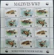 Maldives, 1995, Mi. 2420-23, Y&T 2058-61, Sc. 2092, SG 2297-2300, WWF, Turtles, MNH - W.W.F.