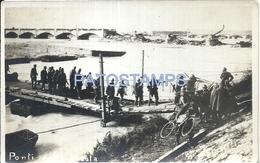 70582 ITALY TREVISO BRIDGE PONTI DELLA PRIULA & MILITARY SOLDIER POSTAL POSTCARD - Italia