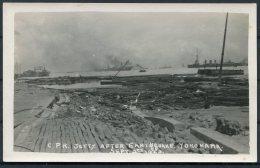 1923 Japan Yokohama Earthquake RP Postcard. C.P.R. Jetty - Yokohama