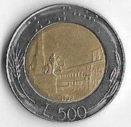 Italy 1992 500 Lire [C214/1D] - 1946-… : Republic