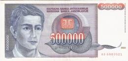 YOUGOSLAVIE   500,000 Dinara   1993   P. 119 - Yougoslavie