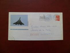 """PAP Entier N°3417-E2  Illustrée Avion Concorde Le 11/2/2004  Avec Flamme Illustrée Taverny """"son Eglise - Sa Forêt-.-"""" TB - Concorde"""