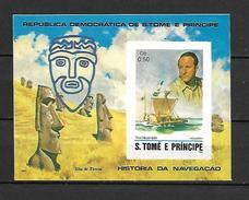 Sao Tome 1982 Navigators Imperforate MS MNH (DMS01) - Exploradores