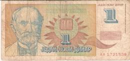 YOUGOSLAVIE   1 Novi Dinar   1/1/1994   P. 145 - Yougoslavie