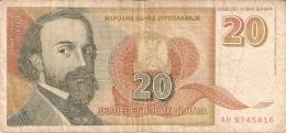 YOUGOSLAVIE   20 Novih Dinara   3/3/1994   P. 150 - Yougoslavie