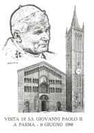 [MD1017] CPM - IN RILIEVO - PARMA - VISITA DI S.S. GIOVANNI PAOLO II - BERTOLETTI - NV 1988 - Parma