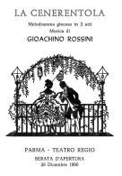[MD1018] CPM - IN RILIEVO - PARMA - TEATRO REGIO - LA CENERENTOLA MUSICA DI GIOACCHINO ROSSINI - BERTOLETTI - NV 1990 - Parma