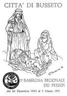 [MD1025] CPM - IN RILIEVO - BUSSETO (PARMA) - 3° RASSEGNA REGIONALE DEI PRESEPI - BERTOLETTI - NV 1990 - Parma