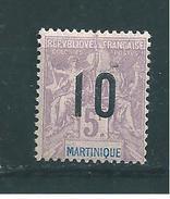 France Colonies Martinique Timbre De 1912  N°81 Neuf * - Martinique (1886-1947)