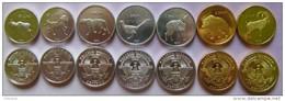 Nagorno-Karabakh Set Of 7 Coins 2013 (2x50 Luma + 3x1 Dram + 2x5 Dram ) UNC