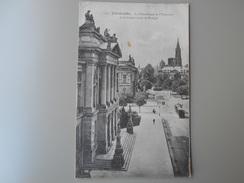 BAS RHIN STRASBOURG  LA BIBLIOTHEQUE DE L'UNIVERSITE ET LE CONSERVATOIRE DE MUSIQUE - Strasbourg