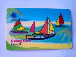 St Vincent Phonecard EC$5 Sail Boats Remote - St. Vincent & The Grenadines