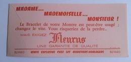 Ancien Buvard Bracelet De Montre FLEURUS Publicité Pub Bijoutier Horloger Horlogerie Imp. Julien Lyon - Blotters