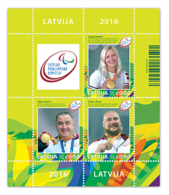 Latvia Lettland Lettonia  2016 Para Olympic Games Champions From Lettland Rio-2016 S/s - Lettonie