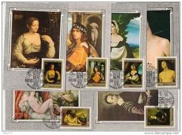 CARTE MAXIMUM Set Stamp 6 CM Card USSR RUSSIA Painting ITALY Masterpiece Hermitage Perugino Titian Correggio Capriole Fe - Maximum Cards