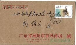 China Special Cover 1991 Saiga Antelope (Saiga Tatarica) 20 分 Commemorative Animals With Horns Postal History Cov - 1949 - ... République Populaire