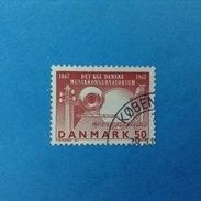 DANIMARCA DANMARK 1967 FRANCOBOLLO USATO STAMP USED - Accademia Della Musica - Used Stamps