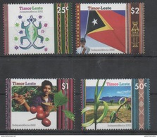 TIMOR, 2002, MNH,INDEPENCENCE, FLAGS, COFFEE, MOUNTAINS, LIZARDS, 4v , SCARCE - Autres