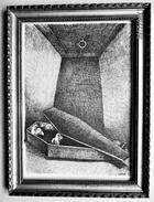 LITHOGRAPHIE- DESSIN   De Claude SERRE - MEDECINE * CHEZ Le DENTISTE LE VAMPIRE   * Humour Noir Et Hommes En Blanc   * 4 - Lithographies