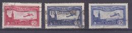 France PA   5 6 6a  Avions Survolant Marseille Oblitérés Used Cote 31.9 - 1927-1959 Matasellados