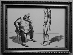 LITHOGRAPHIE- DESSIN   De Claude SERRE - MEDECINE * CHEZ  Le  SEXOLOGUE  * Humour Noir Et Hommes En Blanc   * - Lithographies