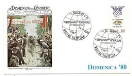 1979 - Italia - Cartolina Commemorativa Dell'80° Della Domenica Del Corriere 1/29 - Esposizioni Filateliche