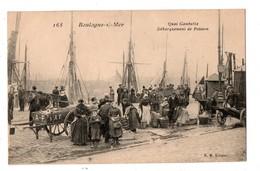 62 - BOULOGNE-SUR-MER . Quai Gambetta . Débarquement De Poisson - Réf. N°1395 - - Boulogne Sur Mer