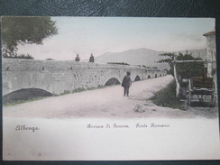 ALBENGA . RIVIERA DI GENOVA . PONTE ROMANO . DOS 1900 - Otras Ciudades