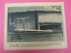 Grde Image Pédagogique/31 X 24 Cm/France D'Outremer/ Métier à Tisser En Cochinchine/G Lang/Vers 1950  GRAV211 - Vieux Papiers