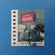 DANIMARCA DANMARK 2000 FRANCOBOLLO USATO STAMP USED - 20^ Secolo Film Cafe' Paradise 6.75 - Usati