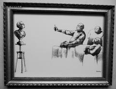 """LITHOGRAPHIE- DESSIN   De Claude SERRE - MEDECINE """"  CHIRURGIE  PLASTIQUE    """" Humour Noir Et Hommes En Blanc   * - Lithographies"""