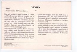 U662 ITALIAN POSTCARD + INFORMATION - YEMEN _ NOT WRITED - Yemen